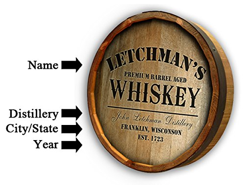 Personalized White Mountain Whiskey Quarter Barrel Sign