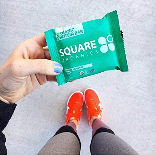 Square Organics Organic Chocolate Coated Protein Bar, Mint (12 Count) 1.7 Oz. , Gluten-Free Soy-Free Dairy-free Vegan High Protein Snack by Square Organics (Image #6)