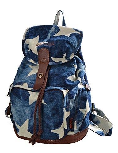 Bolsos Bolsa la Casual Denim de de Mochilas mochila Mujer Estrella Azul Mochilas Tipo Viaje DGY escolares117 RWEwUxnTR