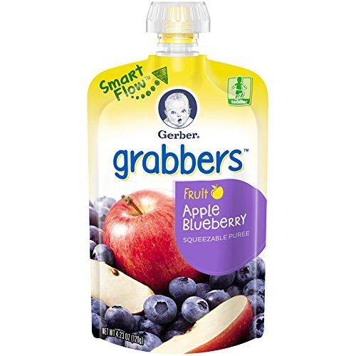 Gerber Graduates Grabbers, Apple Blueberry, 4.23 Ounce (Pack of 12)