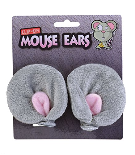 Adults Clip On Furry Mouse Ears (Halloween Mouse Ears Uk)