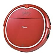 Haier Robot Vacuum Cleaner Floor Cleaner with Wet Mop and Self Charging with Remote Control Red