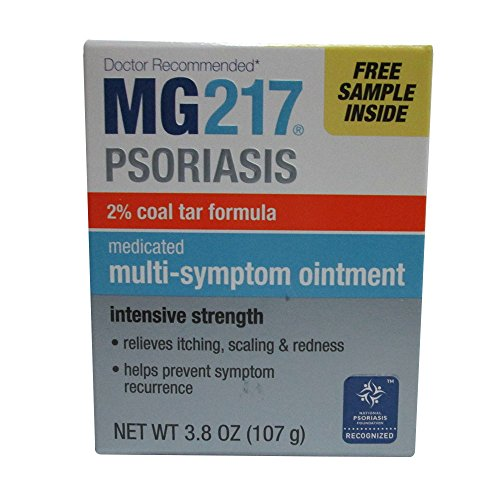 (MG217 Psoriasis Treatment, Medicated Conditioning 2% Coal Tar Multi-Symptom Ointment, 3.8 Ounce)
