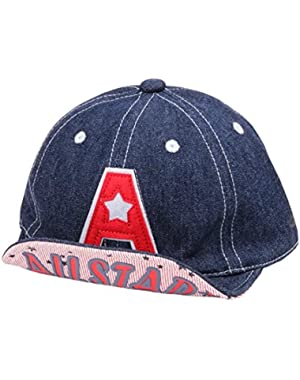Baby Toddler Boys' Alphabet A Summer Outdoor Baseball Hat