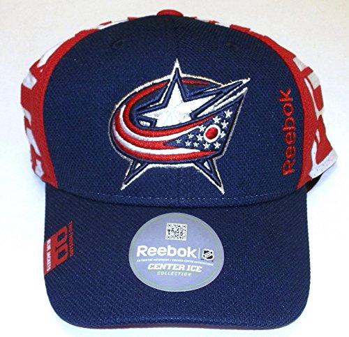 Columbus Blue Jackets Draft Structured Flex Reebok Hat - L/XL - M671Z (Reebok Embroidered Hat)