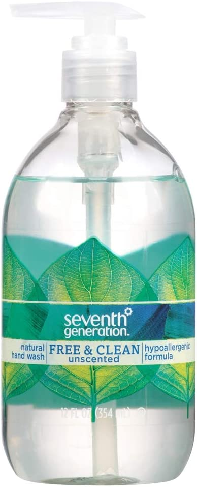 Seventh Generation Natural Hand Wash, Free & Clean 12 Fl Oz (354 Ml)(3 Pack)