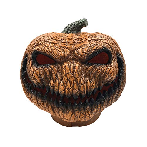 Shuohu Horrible Evil Pumpkin Light,Scary Lamp,Battery Powered Lamp Halloween Party Holiday Decor Orange Black