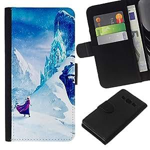 All Phone Most Case / Oferta Especial Cáscara Funda de cuero Monedero Cubierta de proteccion Caso / Wallet Case for Samsung Galaxy A3 // Mountain Fairytale Kids Children'S