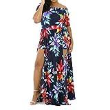Women's Dress,Neartime Floral Jumpsuit Romper Off Shoulder Long Dress