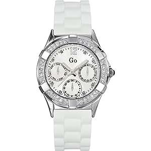 Go Girl Only 697943 - Reloj analógico de cuarzo para mujer con correa de plástico, color blanco