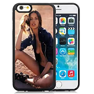 Beautiful Designed Antiskid Cover Case For iPhone 6 4.7 Inch TPU Phone Case With Adriana Lima Black Jacket_Black Phone Case