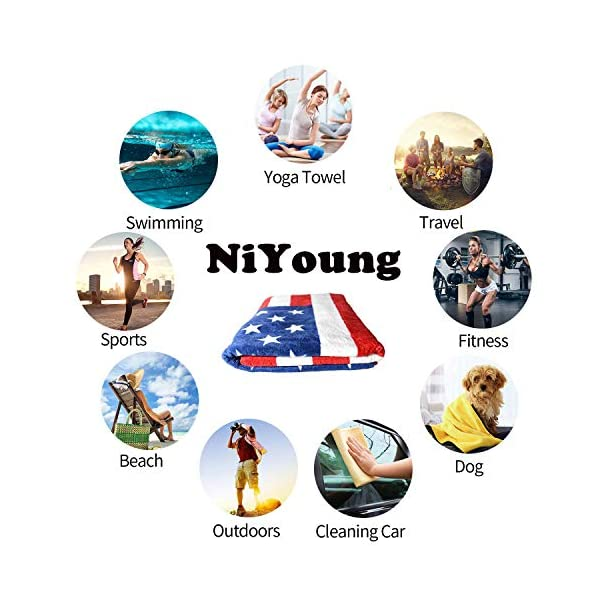 "NiYoung Beach Towels for Travel English Springer Spaniel Beach Towel Prints for Beach, Travel, Cruise, Outdoor, Thick Beach Towels, 28""x56"" 5"