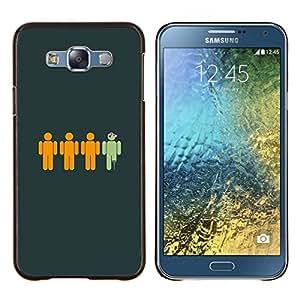 """Be-Star Único Patrón Plástico Duro Fundas Cover Cubre Hard Case Cover Para Samsung Galaxy E7 / SM-E700 ( Divertido pirata"""" )"""