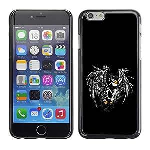 PC/Aluminum Funda Carcasa protectora para Apple Iphone 6 Cool Funny Flying Penguin / JUSTGO PHONE PROTECTOR