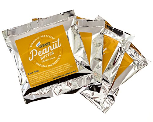Just Granola Peanut Butter Bars (Pack of 8) - Gourmet, Natural Ingredients, Raw Honey, Prebiotics - Quick Low Calorie Breakfast, Great Lunch Item for Kids, Perfect Snack for Sporting Events - Chewy by Just Granola (Image #3)