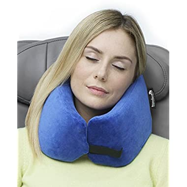 Travelrest - Ultimate Memory Foam Travel Pillow / Neck Pillow - Therapeutic, Ergonomic & Patented - Washable Cover - Most Comfortable Neck Pillow -- Compresses to 1/4 of it's Size