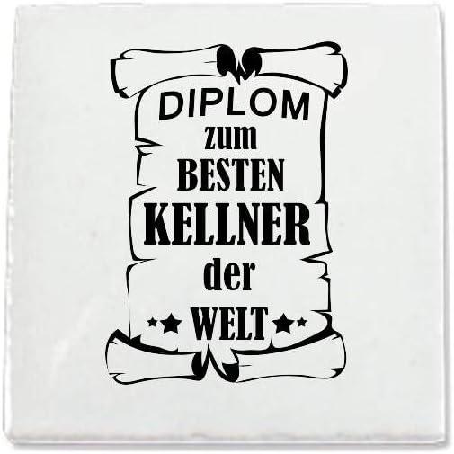 Keramikfliese 15x15cm Diplom zum besten Arbeitslosen der Welt