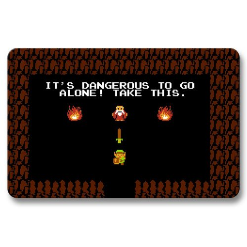 Door Mats Floor Bathroom Floor Mats Non Slip Collectible Legend of Zelda 16x24Inch / 40x60cm