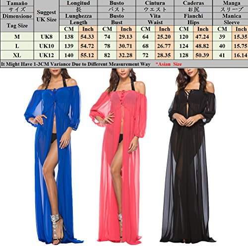 Ups Zhuhaitf Blue Casual Women Bikini Dress Dresses Swimwear Off Summer Cover Shoulder Beachwear Chiffon for H8SqrH