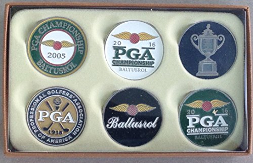 2016 Baltusrol ball marker set 6 pack PGA Championship golf tournament