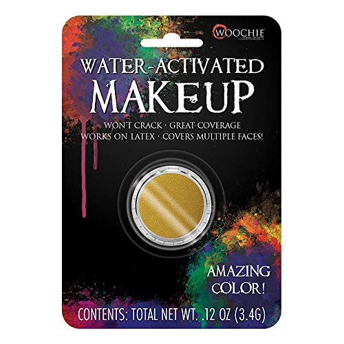 Woochie Water Activated Makeup - Professional Quality Halloween and Costume Makeup - (Corpse Yellow, 0.1 oz)