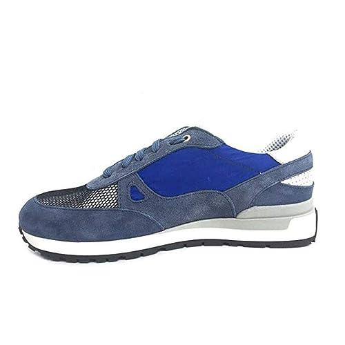 Exton Scarpe Uomo Sneaker camoscio Blu 993 CAMNAV: Amazon.it