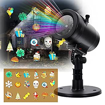 Christmas Light Projector Outdoor LED - Marggle Christmas Lights Projector Combine with Remote Control and 14 Exclusive Design Slides, for Christmas Halloween Birthday Holiday Landscape Decoration