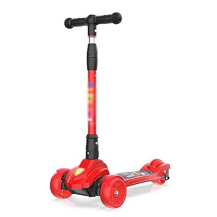 Patinete Scooter de Patinaje para niños de Color Rojo ...