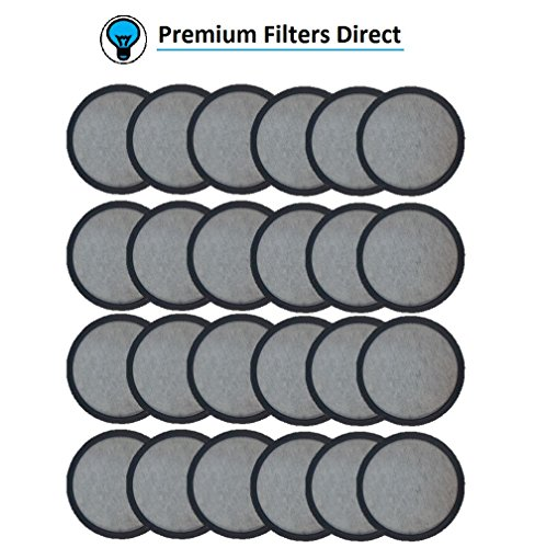 Premium Replacement Charcoal Water Filter Disk for Mr. Coffee Machines (24) by Premium Filters Direct