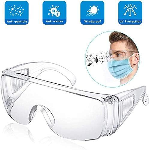 LTJY Pack de 3 Gafas de Seguridad, Gafas Profesionales Gafas Protección UV Antipolvo Gafas de Recubrimiento antivaho a Prueba de Viento con Lente Transparente para protección Ocular: Amazon.es: Deportes y aire libre