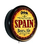 SPAIN Beer and Ale Cerveza Lighted Wall Sign
