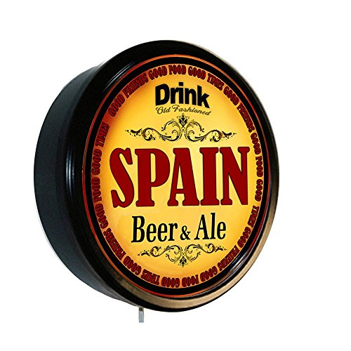SPAIN Beer and Ale Cerveza Lighted Wall Sign by Goldenoldiesclocks