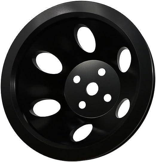Assault Racing Products A8841PBK Big Block Chevy 1 Groove Black Aluminum Crankshaft Pulley 6-7//16 Short Water Pump BBC