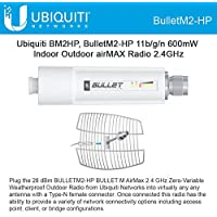 Ubiquiti BM2HP 11b/g/n Bullet M2 HP 600mW Indoor Outdoor airMAX Radio 2.4GHz