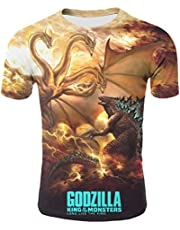 God-Zilla 2 King of The Monsters Mens Womens Youth Boys Girls 3D Printed Short Sleeves Tshirts