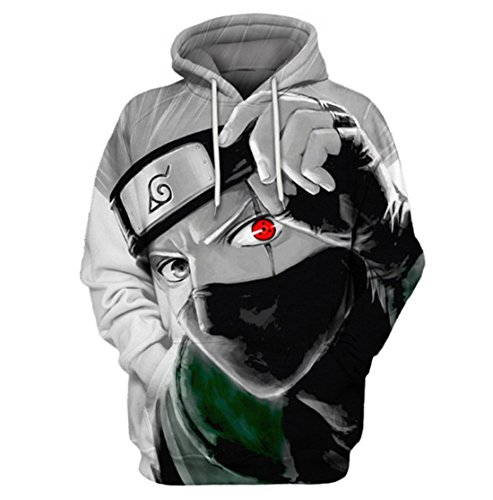 Naruto Merchandise - CHENMA Men Naruto 3D Print Pullover Hoodie Sweatshirt With Kangaroo Pocket