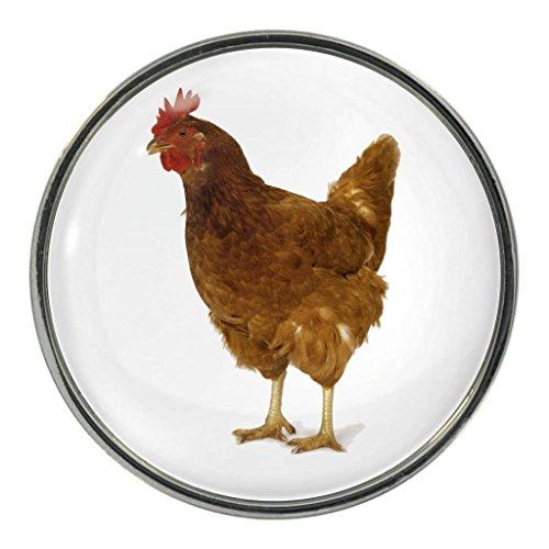 Chicken Image Design Metal Fridge Magnet