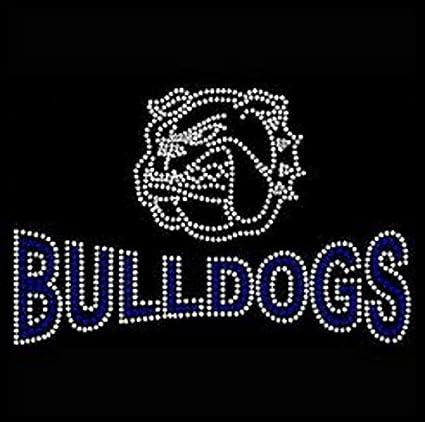 foto de Amazon.com: Bulldogs Rhinestone Iron on Transfer