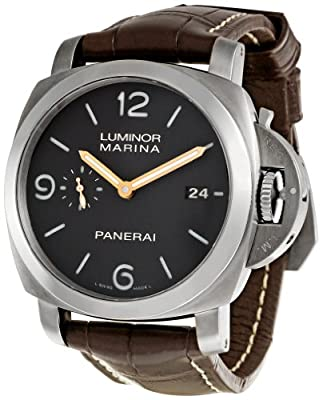 Panerai Men's PAM00351 Luminor Black Dial Watch