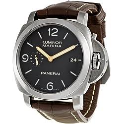 Panerai Men's PAM00351 Luminor Analog Automatic Black Dial Watch