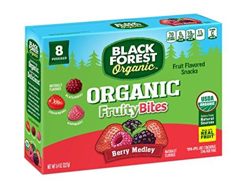 Black Forest Organic Fruity Bites Berry Medley Fruit Snacks, Assorted Flavors, 0.8 Ounce Bag, 64 (Black Forest Fruit Snacks Ingredients)