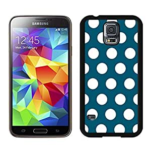 BINGO wholesale Polka Dot Dark green and White Samsung Galaxy S5 Case Black Cover