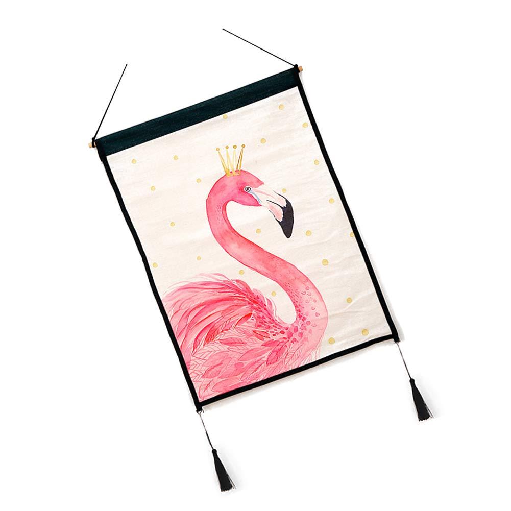 61cm Rosa Yililay Pinturas Mini Flamenco Tapiz de Cuadros de la Pared de Fondo de Tela de Desplazamiento Cartel de Casa Comprar 45