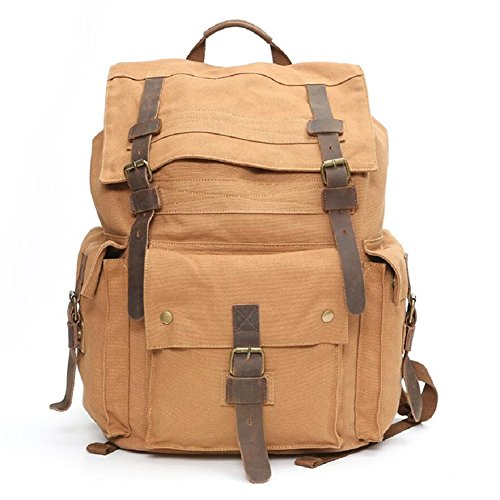 amp;J Bag 29 Hiking Continental L Style Men's Large Canvas ZC Mountaineering Bag A Bag Student Retro Shoulder Outdoor Capacity Ff18xqT
