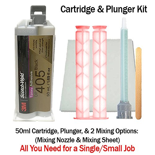 3M ScotchWeld DP405 Black 5-Minute Toughened Epoxy Adhesive Plunger Kit (50ml w/Hand Plunger) by MMM-3M Scotch-Weld