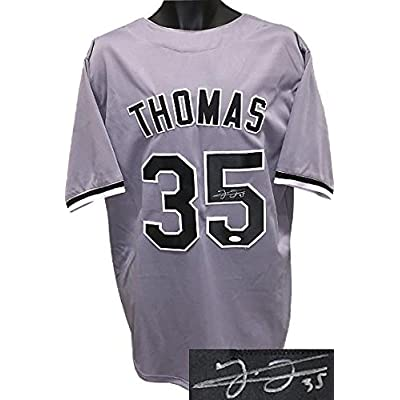 reputable site a8991 9c378 Autographed Frank Thomas Jersey - Gray TB Custom Stitched XL ...