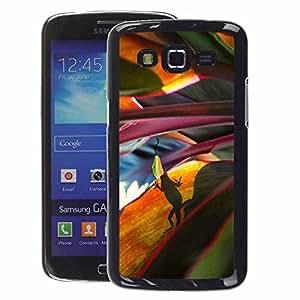 A-type Arte & diseño plástico duro Fundas Cover Cubre Hard Case Cover para Samsung Galaxy Grand 2 (Leaves Nature Jungle Scene)
