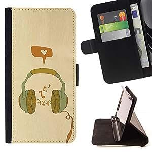 Momo Phone Case / Flip Funda de Cuero Case Cover - Cuffia - LG G4c Curve H522Y (G4 MINI), NOT FOR LG G4
