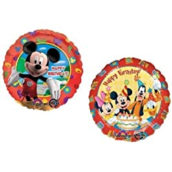 LoonBalloon MICKEY Minnie MOUSE Donald Duck Goofy 18 Happy Birthday Party Mylar Balloons by LoonBalloon