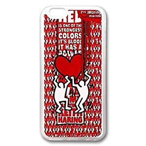 Andre-case Cute Cartoon Keith Haring Collection Hard Transparent case cover for iPhone 4s 5.5 inch In i7C8OPMRcGE Red